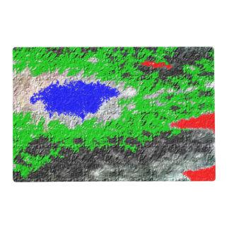 Modelo colorido al azar extraño tapete individual