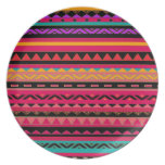 Modelo colorido azteca al sudoeste platos para fiestas