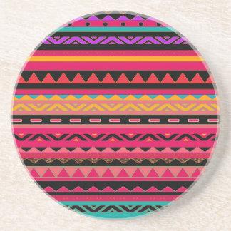 Modelo colorido azteca mexicano hermoso posavasos manualidades