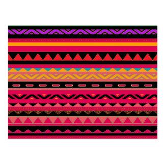 Modelo colorido azteca mexicano hermoso postal