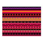 Modelo colorido azteca mexicano hermoso tarjetas postales