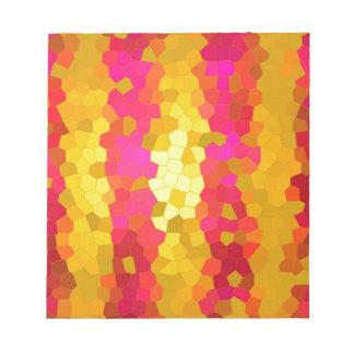 Modelo colorido bloc de notas
