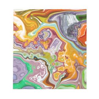 Modelo colorido libreta para notas