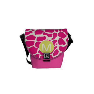 Modelo colorido brillante de la jirafa del bolsa de mensajería