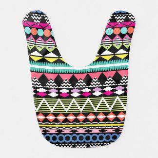 Modelo colorido brillante del Azteca del fiesta Babero Para Bebé