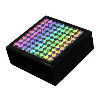 Modelo colorido brillante del estilo del vitral cajas de regalo