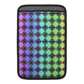 Modelo colorido brillante del estilo del vitral funda macbook air
