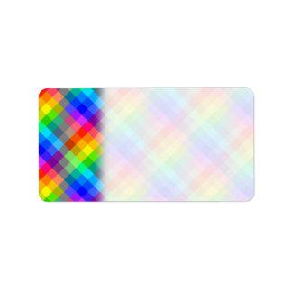 Modelo colorido. Colores del arco iris Etiqueta De Dirección