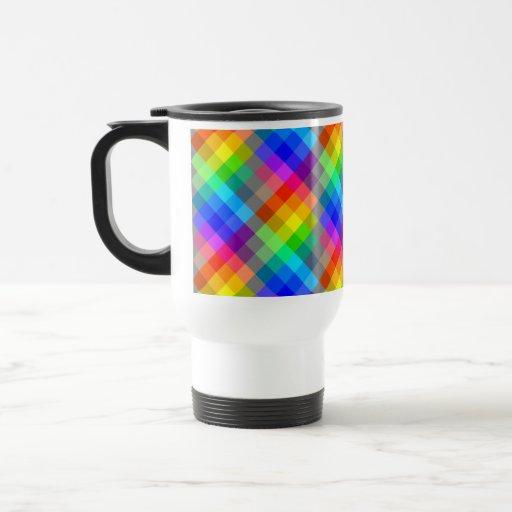 Modelo colorido. Colores del arco iris Taza