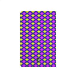 Modelo colorido cuadrado abstracto cuadernos grapados