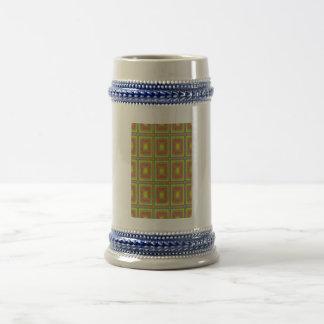Modelo colorido cuadrado geométrico taza
