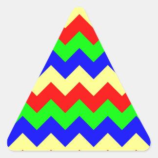 Modelo colorido de Chevron Pegatina Triangular