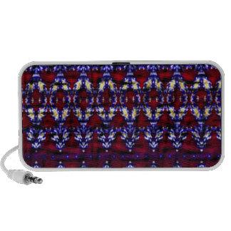 Modelo colorido de la alfombra laptop altavoz