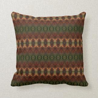 Modelo colorido de la alfombra cojines