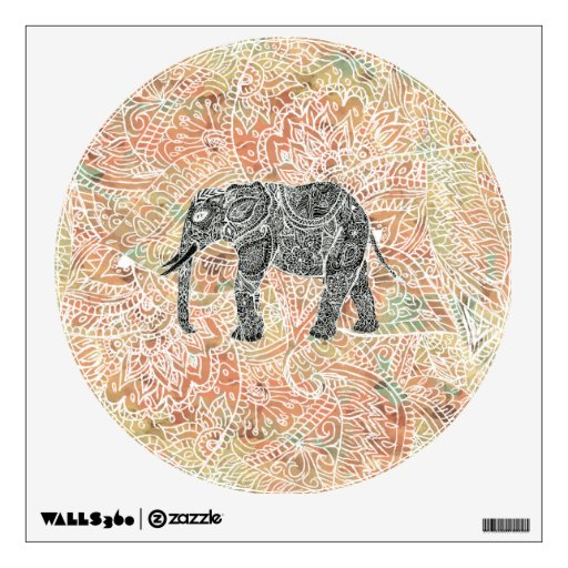 Modelo colorido de la alheña del elefante tribal d