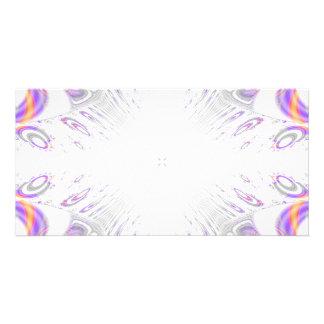 Modelo colorido de la diversión. Blanco, púrpura,  Plantilla Para Tarjeta De Foto
