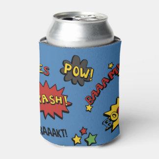 Modelo colorido de la diversión del super héroe enfriador de latas