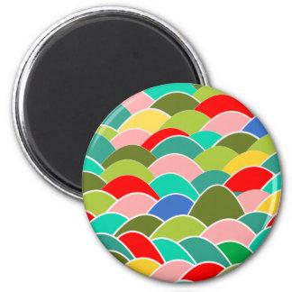 Modelo colorido de la escala de pescados imán para frigorifico