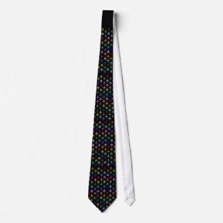Modelo colorido de la flor de lis en negro corbatas personalizadas
