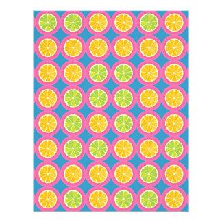 """Modelo colorido de la fruta folleto 8.5"""" x 11"""""""