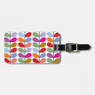Modelo colorido de la hoja etiquetas para equipaje