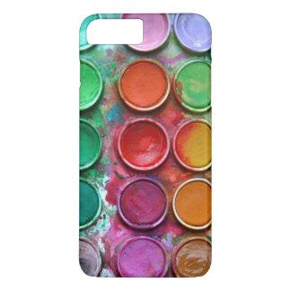 Modelo colorido de la paleta de la caja de color funda iPhone 7 plus