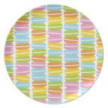 Modelo colorido de la pila de Macarons Plato Para Fiesta