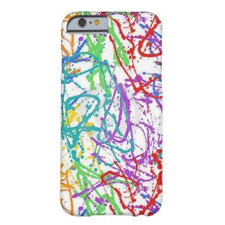 Modelo colorido de la pintura de la salpicadura funda de iPhone 6 barely there