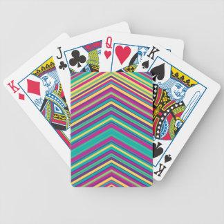 Modelo colorido de la raya barajas de cartas