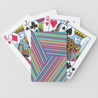 Modelo colorido de la raya baraja de cartas