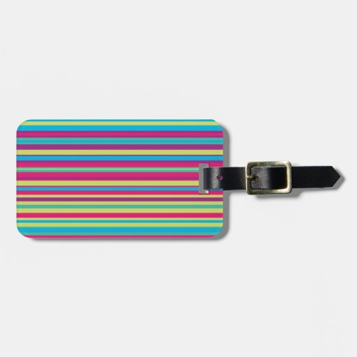 Modelo colorido de la raya etiqueta de maleta