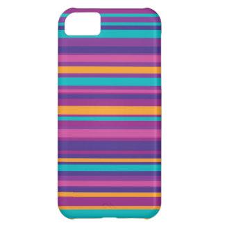 Modelo colorido de la raya funda para iPhone 5C