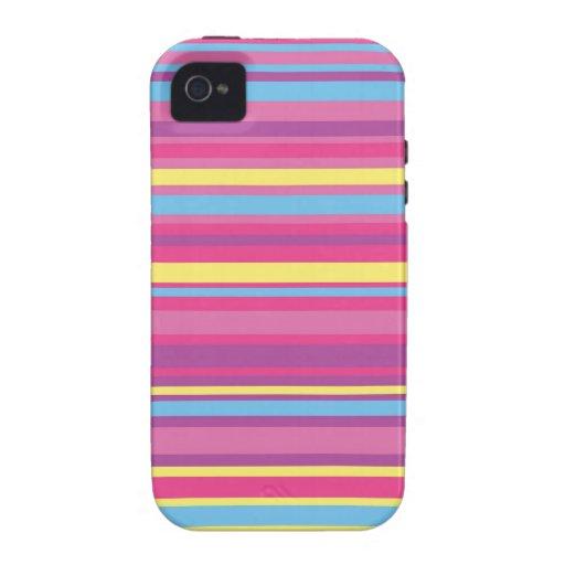 Modelo colorido de la raya iPhone 4/4S funda