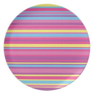 Modelo colorido de la raya plato