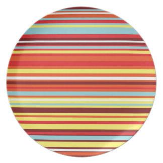 Modelo colorido de la raya plato de comida