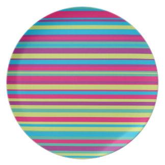 Modelo colorido de la raya plato para fiesta