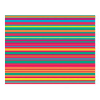 Modelo colorido de la raya postal