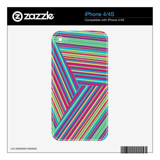 Modelo colorido de la raya skin para el iPhone 4