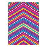Modelo colorido de la raya tarjetas