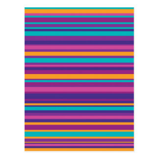 Modelo colorido de la raya tarjetas postales