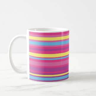 Modelo colorido de la raya taza de café