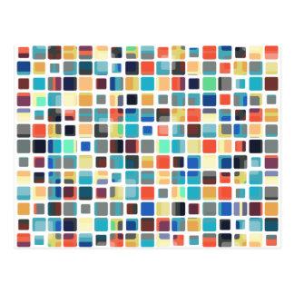Modelo colorido de la teja postal