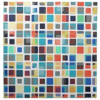Modelo colorido de la teja servilletas imprimidas
