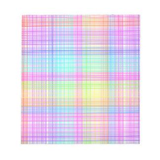 Modelo colorido de la tela escocesa bloc