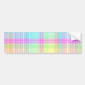 Modelo colorido de la tela escocesa pegatina de parachoque