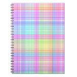 Modelo colorido de la tela escocesa libretas