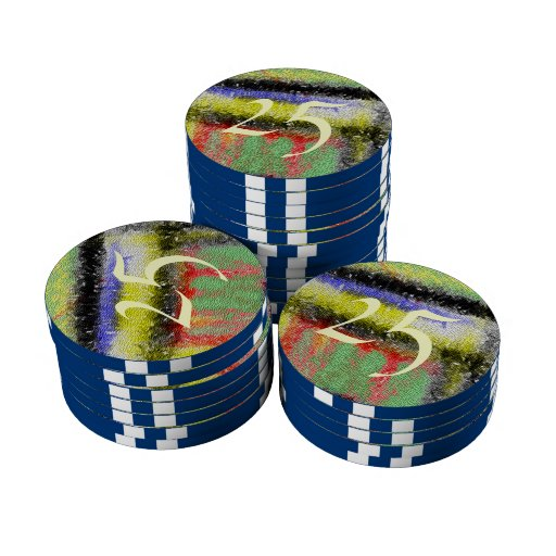Modelo colorido de la textura fichas de póquer