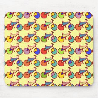 modelo colorido de las bicis tapete de ratones
