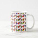 modelo colorido de las bicis taza de café