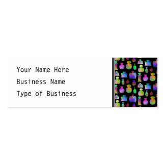 Modelo colorido de las botellas de perfume tarjetas de visita mini